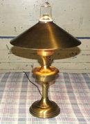 Vintage Retro Brasstone Metal Hurricane Table Lamp