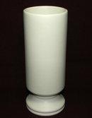 Vintage Mid-Century McCoy Floraline Matte Ivory # 412 Cylinder Vase