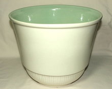 Large Cream Red Wing Jardiniere With Apple Green Interior