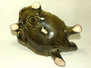 McCoy Turtle Planter in Olive Green Circa 1950