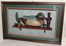 1992 Ducks Unlimited Wooden Decoy Shadow Box