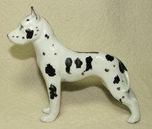 Erphila Germany Porcelain Harlequin Great Dane Figurine