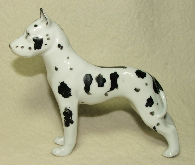Erphila Germany Porcelain Harlequin Great Dane Figurine