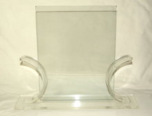 Art Deco Lucite and Glass Picture Frame