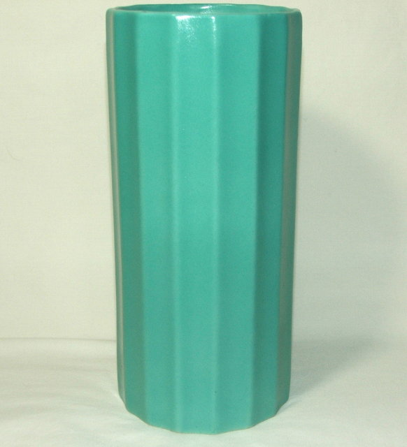 Art Deco Period Erphila Fluted Pottery Vase - Czechoslovakia