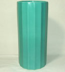 Art Deco Period Erphila Fluted Pottery Vase - Czechoslovakia