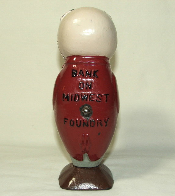 Vintage/Antique Cast Iron Midwest Foundry Advertising Pig Bank