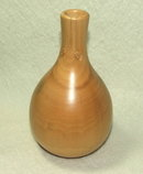 Artist-Signed Hand Turned and Polished Wood Vase