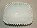 Vintage Fenton Milk Glass Hobnail Banana Bowl