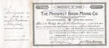 Prospect  Basin Mining Company 1891 - Telluride, Colorado