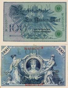 100 Reichsbanfnote 1908