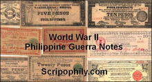 10 Authentic Philippine World War II Guerrilla Notes