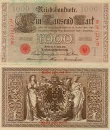 1000 Reichsbanfnote 1910