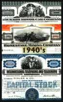 Decade Package 1940's - 3 Certificates