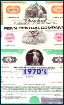 Decade Package 1970's - 3 Certificates