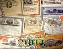 2004 Wall Street Stock Calendar