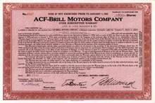 ACF-Brill Motors Company ( Famous Bus Maker )