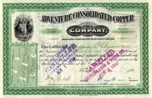 Adventure Consolidated Copper Company 1898 - Michigan