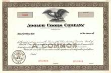 Adolph Coors Company - Coors Brewing Company