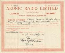 Aeonic Radio - 1929