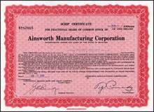 Ainsworth Manufacturing Corporation 1930 - Michigan