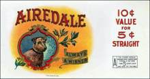 Airedale Cigar Label - Always a Winner