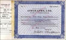 Airgraphs, Limited 1940 RARE