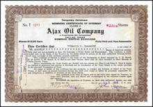 Ajax Oil Company 1919 - Dallas, Texas