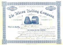 Akron Belting Company 1896 - Ohio