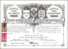 Ericsson Svensk-Dansk-Ryska ( Russian Telephone Company ) 1915
