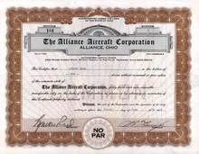 Alliance Aircraft Corporation 1928 - Alliance, Ohio - Issued to Aubrey Hess