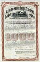 Altoona and Beech Creek Terminal Railroad Company 1901 - Gold Bond