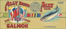 Ally Brand Fancy Red Cutlets Salmon Label