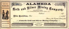 Alameda Gold and Silver Mining Company 1870's