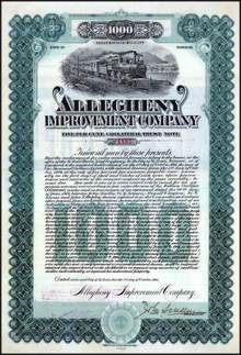 Allegheny Improvement Company 1906 signed by John Scullin