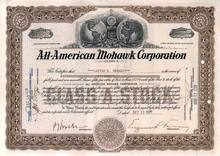 All American Mohawk Corporation 1929