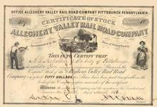 Allegheny Valley Rail Road Company 1850's
