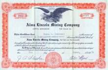 Alma Lincoln Mining Company - Colorado
