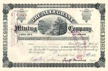 Alleghany Mining Company 1888 - Leadville, Colorado