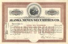 Alaska Mines Securities Co. 1909