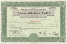 Allenbee Petroleums Limited 1950 - 1951 - Leduc Oilfield