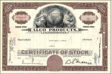Alco Products Incorporated