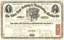 Alden Type Setting & Distributing Machine Co.