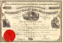 Allegheny Valley Rail Road Company 1874