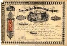 American Anti Incrustation Company 1866 - Philadelphia, Pennsylvania