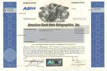 American Bank Note Holographics, Inc - CEO convicted of fraud