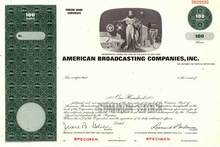 American Broadcasting Companies, Inc. ( ABC in now owned by Disney )