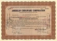American Chinaware Corporation - 1929 Ohio