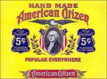 American Citizen Cigar Label