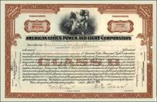 American Cities Power and Light Corporation 1930's